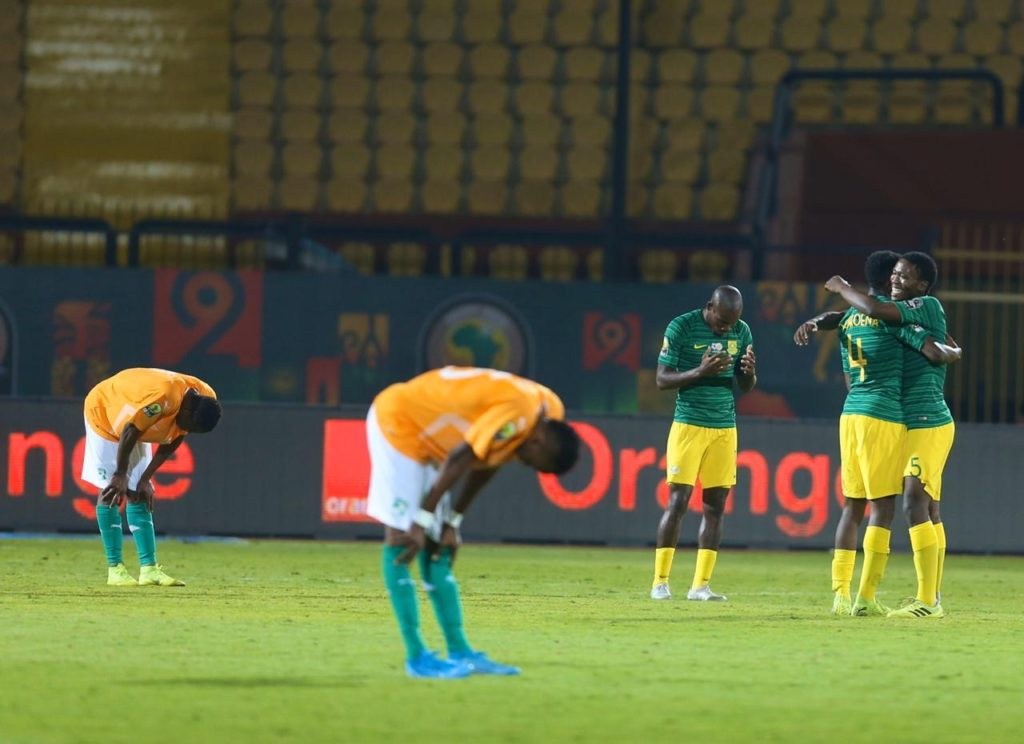 Watch: Mokoena's superb free kick against Côte d'Ivoire