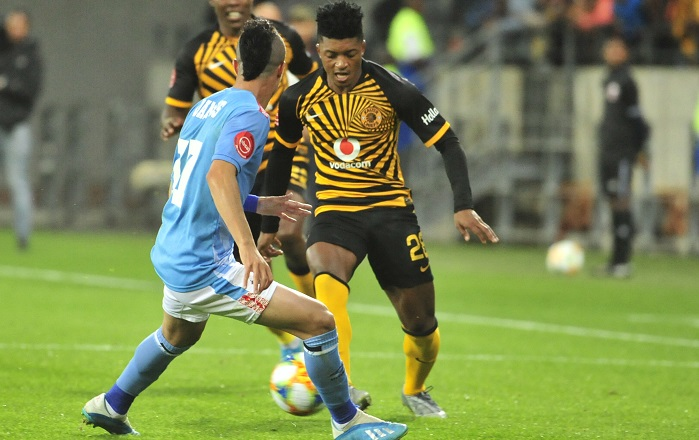 Gregory Damons of Chippa United and Dumisani Zuma of Kaizer Chiefs