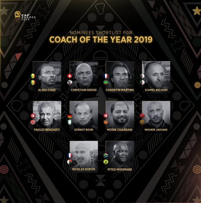 Pitso nominated for Caf African Coach of the Year