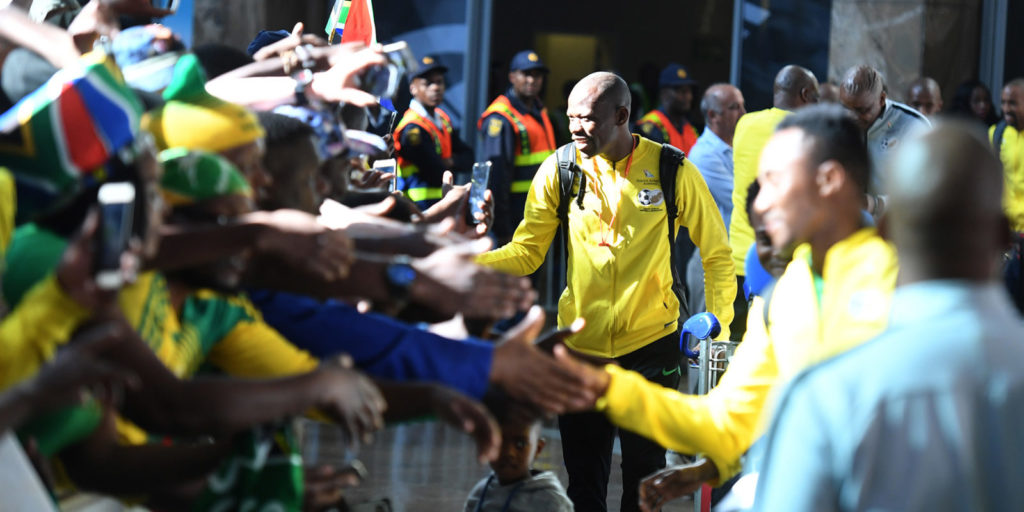 In Pictures: Bafana arrive safely in Ghana