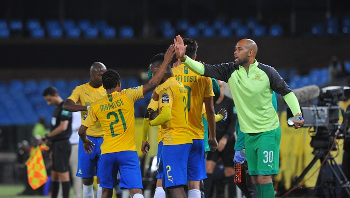 Sphelele Mkhulise of Mamelodi Sundowns celebrates his goal