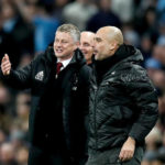 Manchester United manager Ole Gunnar Solskjaer and Manchester City manager Pep Guardiola
