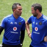Fadlu Davids, assistant coach of Orlando Pirates with head coach Josef Zinnbauer