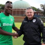 Bidvest Wits coach Gavin Hunt and new striker Eva Nga