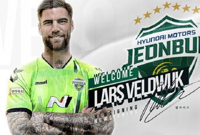 Lars Veldwijk joins South Korean giants, Jeonbuk Hyundai Motors
