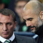 Celtic manager Brendan Rodgers and Manchester City manager Pep Guardiola