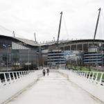 A general view of the Etihad Stadium where Manchester City's Premier League match with West Ham United was called off due to extreme and escalating weather conditions, as Storm Ciara hits the UK.