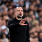Manchester City manager Pep Guardiola on the touchline during the UEFA Champions League round of 16 first leg match at the Santiago Bernabeu, Madrid.