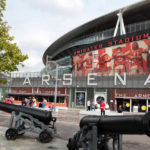 A general view of the exterior of the Emirates Stadium, home of Arsenal