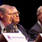 Rangers Chairman Dave King addresses shareholders during the AGM in the Clyde Auditorium, Glasgow.