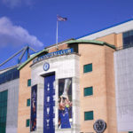 General view of the stadium before the Premier League match at Stamford Bridge, London.
