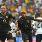 Lebogang Manyama and Samir Nurkovic of Kaizer Chiefs