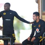 George Maluleka and Leonardo Castro of Kaizer Chiefs