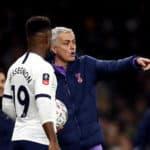 Tottenham Hotspur manager Jose Mourinho and Tottenham Hotspur's Ryan Sessegnon