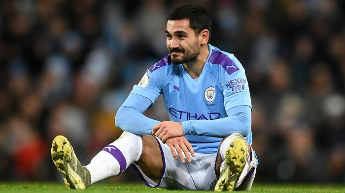 Ilkay Gundogan joins Manchester City's injury list