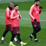 Lionel Messi and Barcelona return to La Liga training