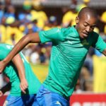 Gaston Sirino and Thapelo Morena of Mamelodi Sundowns