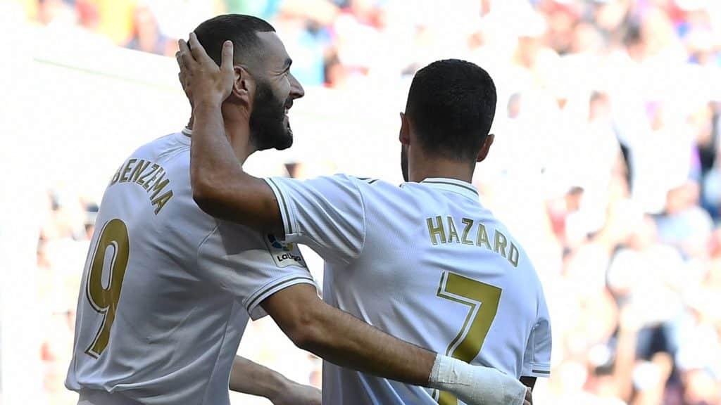 Zidane singles out Benzema, Hazard