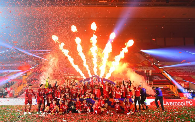 Watch: Liverpool lift their first league title in 30 years