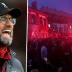 Liverpool 'disappointed' in fans' Premier League title celebrations outside Anfield