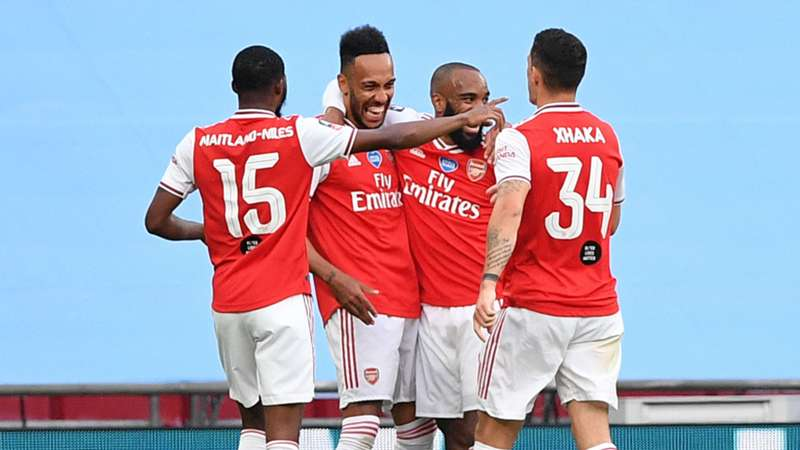 Aubameyang fires Arsenal past Man City to FA Cup final