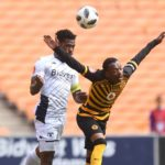 Thulani Hlatshwayo of Bidvest Wits challenges Khama Billiat of Kaizer Chiefs