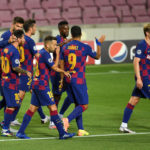 Messi shines as Barcelona set up Bayern clash