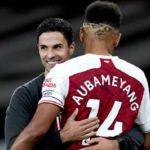 Mikel Arteta and Aubameyang of Arsenal