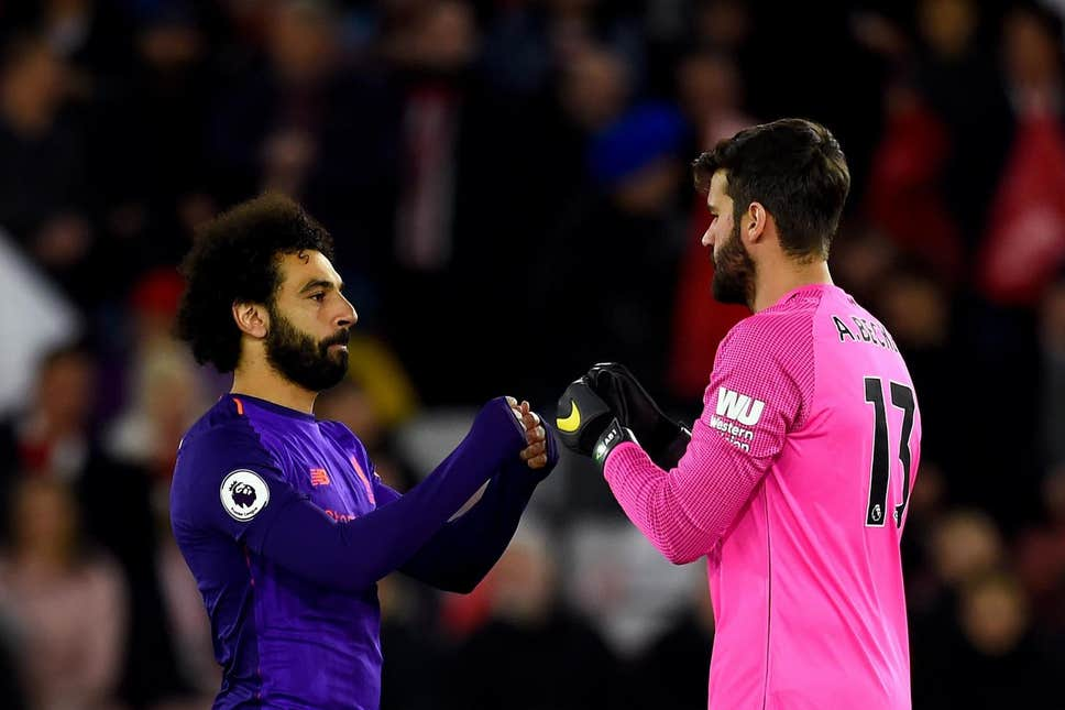 Alisson sends rivals Salah warning