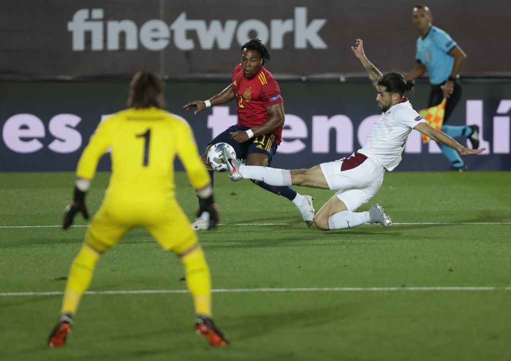 Spain secure Nations League win over Switzerland to stay top of Group A4