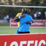 Pitso Mosimane and Hlompho Kekana of