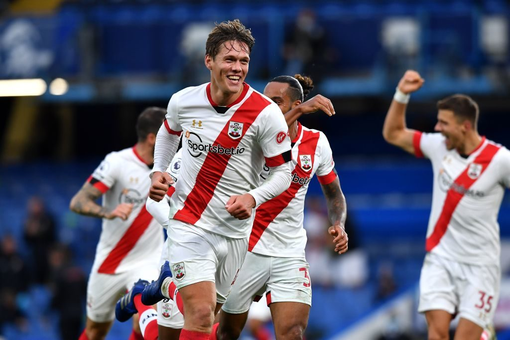 Late Vestergaard header earns Southampton point in six-goal thriller against Chelsea