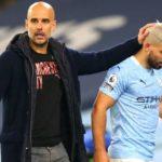 Sergio Aguero and Pep Guardiola, Manchester City