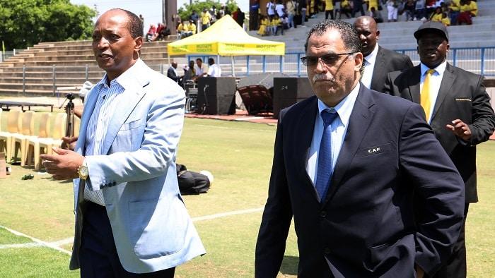 Patrice Motsepe, Chairman of Mamelodi Sundowns with SAFA President Danny Jordaan