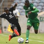 Tshediso Patjie of Baroka FC tackled by Siphesihle Ndlovu of Orlando Pirates