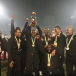 Pitso Mosimane lifting the Caf Champions League title