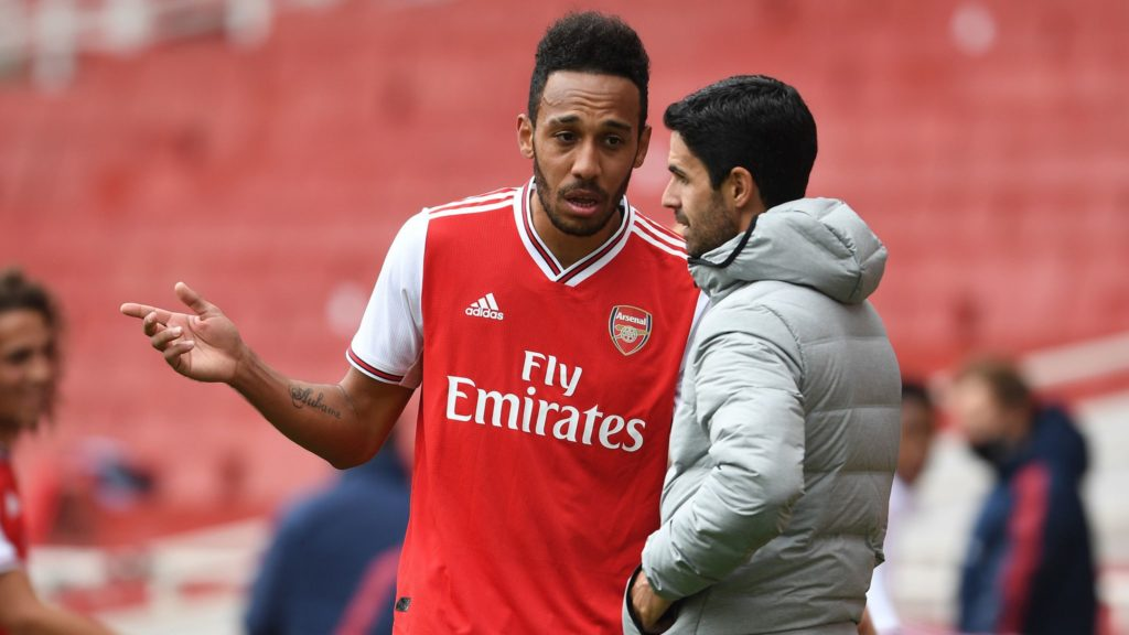 Arteta doesn't feel 'disrespected' by Aubameyang