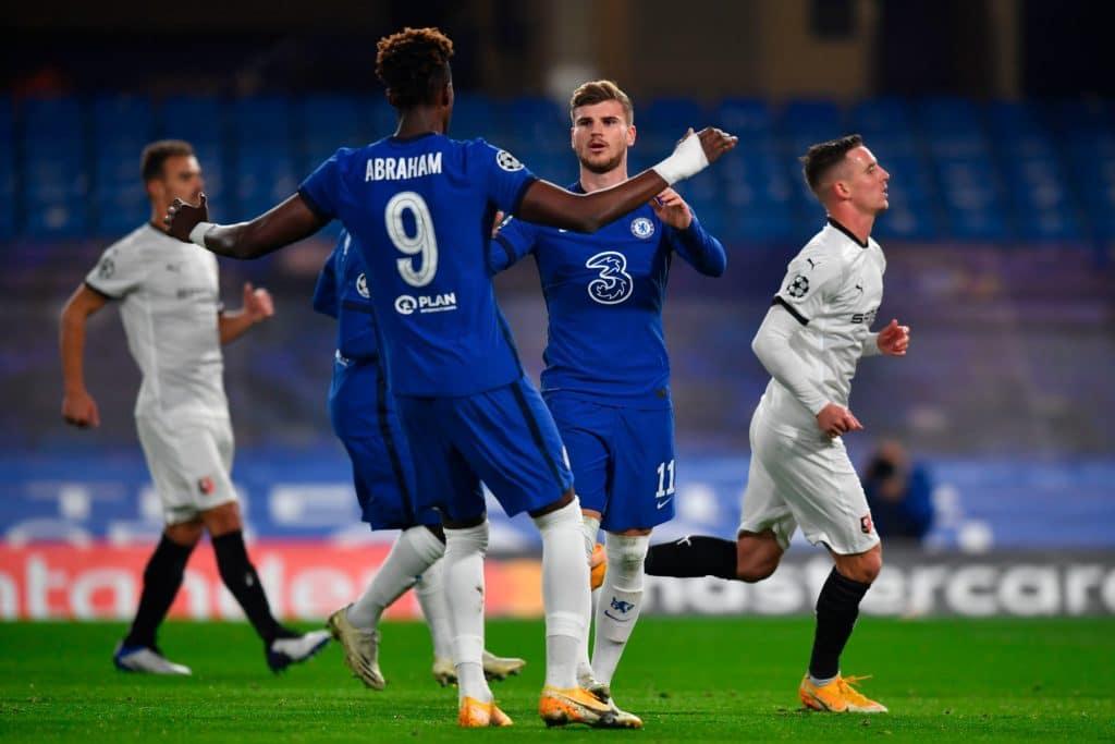 Two Werner penalties help Chelsea see off 10-man Rennes