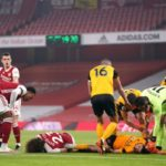 Jimenez head injury overshadows Wolves win at Arsenal