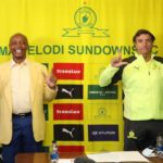 Patrice Motsepe, Chairman of Mamelodi Sundowns and Jose Ramon Alexanko