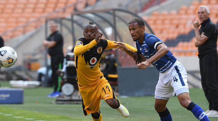 Nazeer Allie of Maritzburg United challenges Khama Billiat of Kaizer Chiefs
