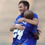 Bradley Grobler of Supersport United celebrates