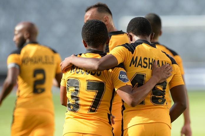 Kaizer Chiefs youngsters Nkosingiphile Ngcobo and Happy Mashiane