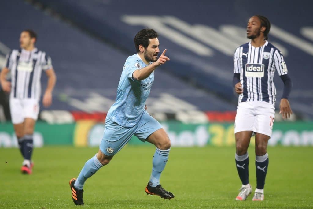 Five-star Man City thrash West Brom to go top