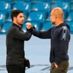 Arteta and Pep Guardiola