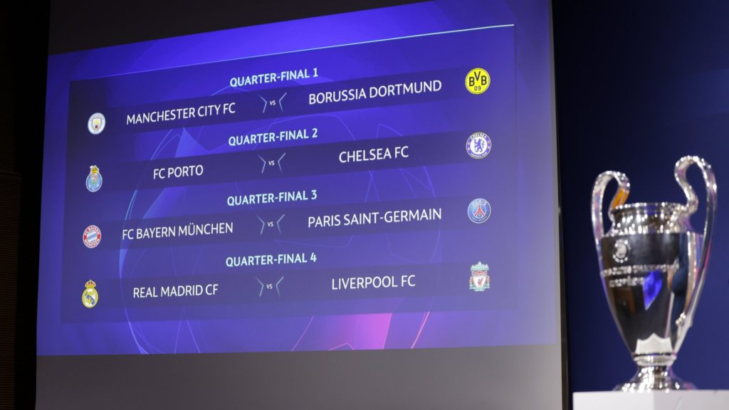UCL draw: Liverpool play Real, Man City meet Dortmund