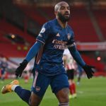 Lacazette's double helps Arsenal return to top half