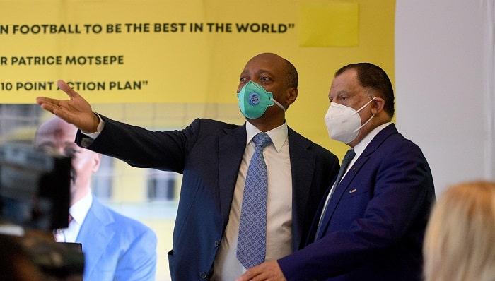 Dr Patrice Motsepe and SAFA President Dr Danny Jordaan