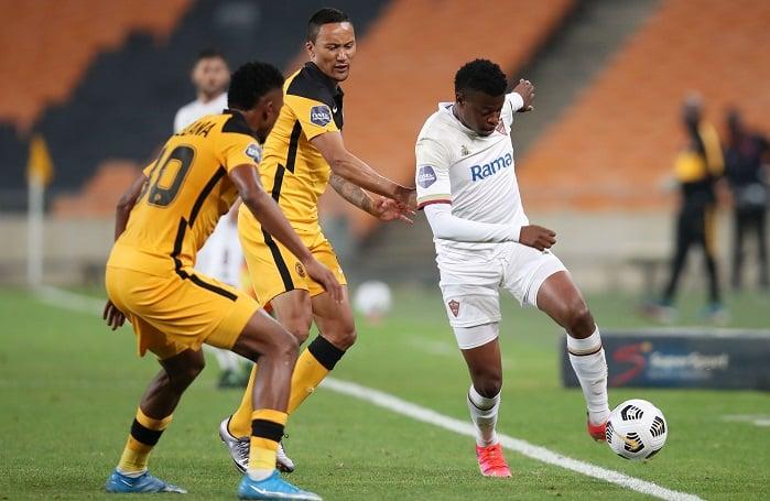 Phathutshedzo Nange of Stellenbosch FC vs Kaizer Chiefs