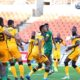 Itumeleng Khune of Kaizer Chiefs clears ball during the DStv Premiership match between Baroka FC and Chiefs